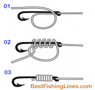 Best fishing knot how to tie fishing hook to a line for Tie fishing hook