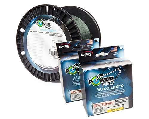 Review of power pro maxcuatro braided fishing line for Braided ice fishing line